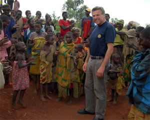 Henk ter Braak in Burundi - mei 2007